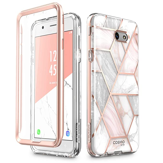 i-Blason Case Designed for Galaxy J7 2017, Cosmo Series Full-Body Glitter Bumper Case with Built-in Screen Protector for Galaxy J7 (SM-J727), Not fit ...