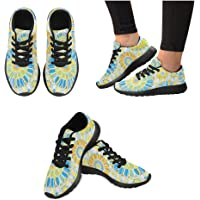 InterestPrint - Zapatillas de Running para Mujer, diseño de Girasoles, Color Amarillo