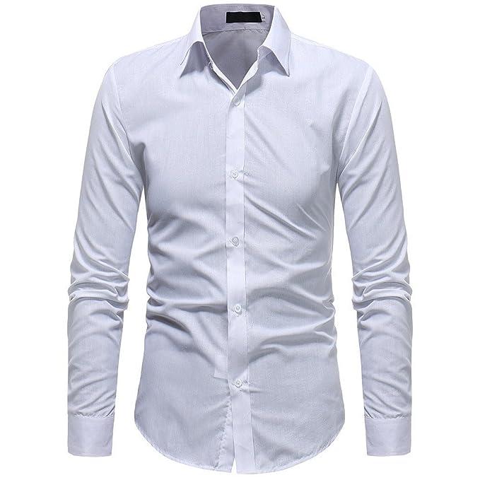 Camicia Uomo LandFox Slim Fit Camicia da Uomo a Manica Lunga