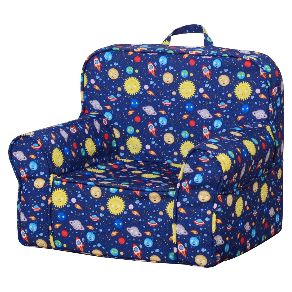 Awesome Babyland Full Foam Kids Sofa Blue 3 3Lb Sponge Safety And Soft Armchair Couch For 1 3 Years Baby With Washable Cover Unemploymentrelief Wooden Chair Designs For Living Room Unemploymentrelieforg