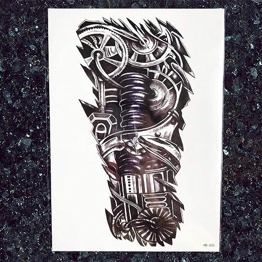 tzxdbh 5Pcs-Hombres Grandes Robot Brazo Tatuaje Pegatinas Negro ...