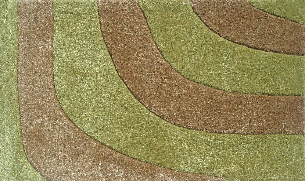 The Rug Market Delphi Plush Floor Rug Green 16 x 27