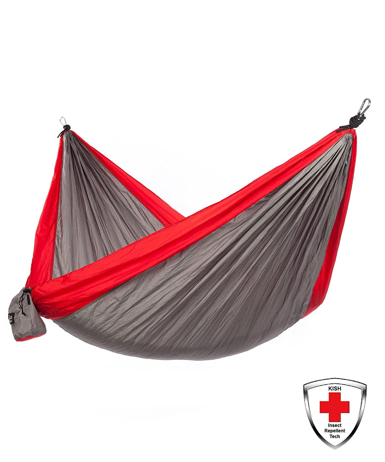 Just Relax Made with Kish Bug Repellent Double Portable Lightweight Camping Hammock, 10.6×6.6 Feet