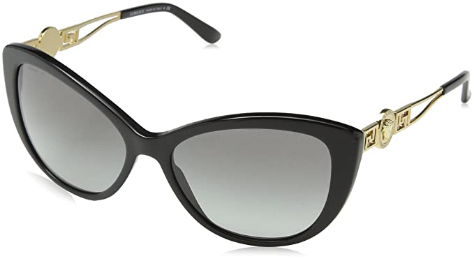 89880324031 Versace 4295 GB1 11 Black 4295 Cats Eyes Sunglasses Lens Category 2 Lens  Mirror