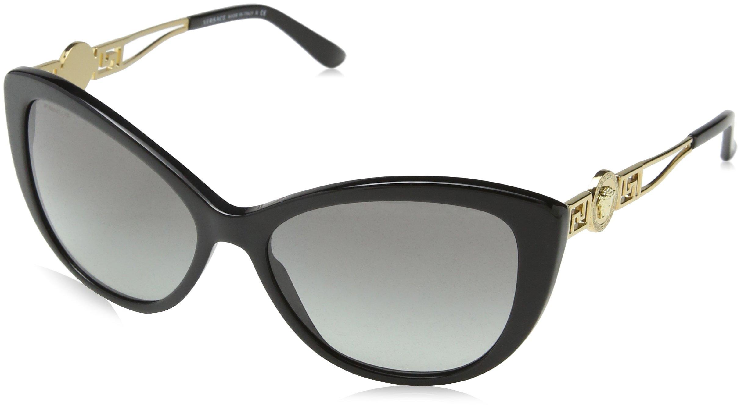 Versace Women's VE4295 Sunglasses Black / Gray Gradient 57mm