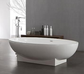 Freistehende Badewanne aus Mineralguss KZOAO-1008, Oberfläche ...