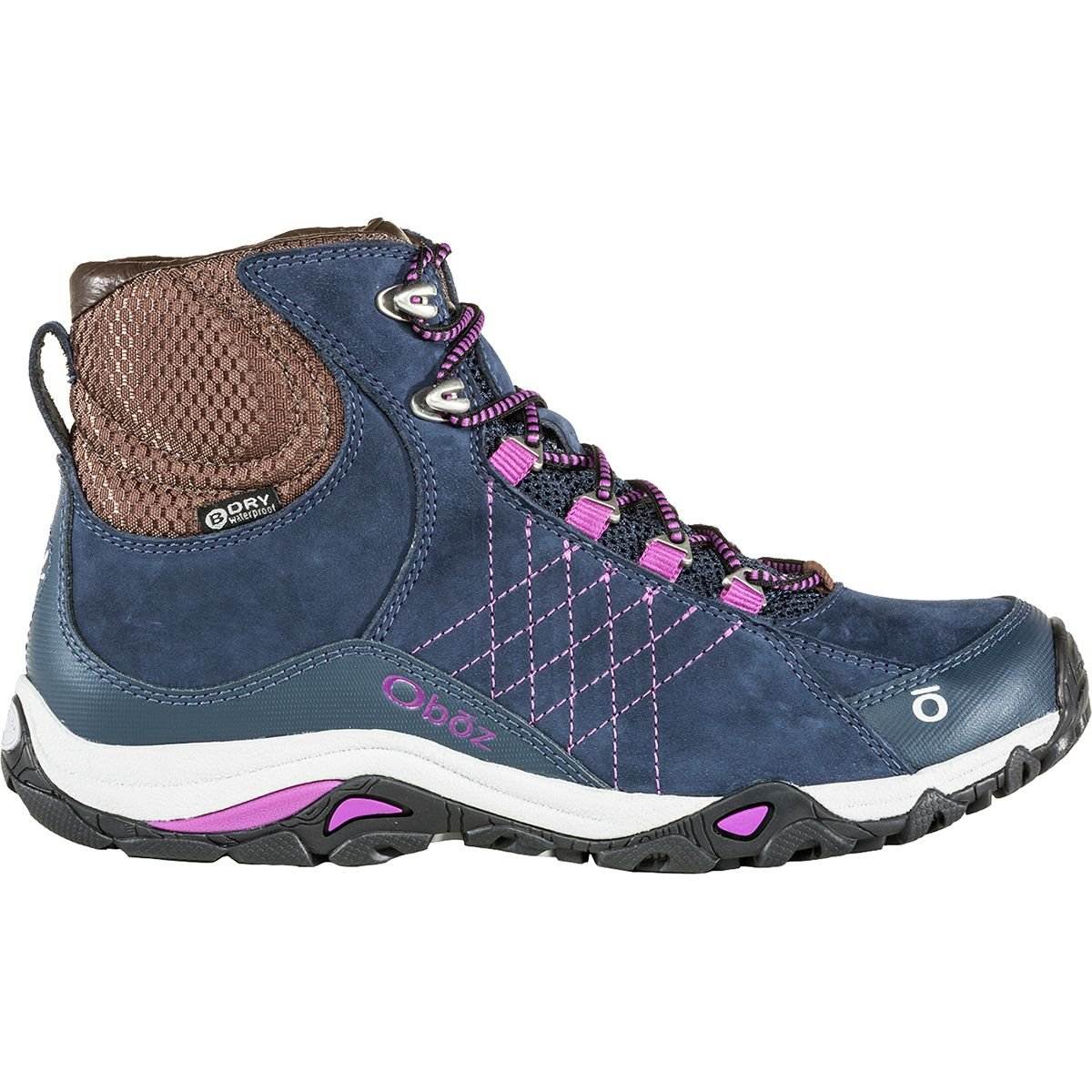 Oboz Women's Sapphire Mid Waterproof Boot B074N89FBG 7|Huckleberry