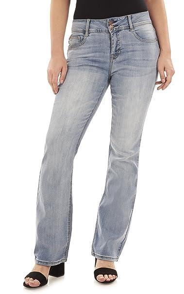 Amazon.com: Angels pantalones vaqueros de corte curvo básico ...