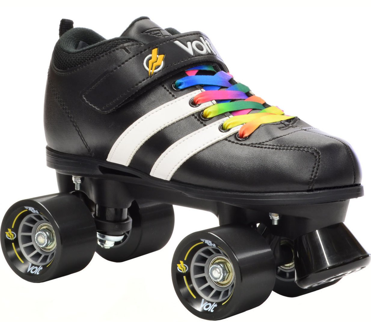 Riedell RW Volt Rainbow Skates - Riedell RW Volt Speed Skates - Volt Rainbow Skate Size 9