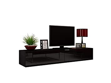 Concept Muebles Seattle TV Stand 180 U2013 TV Cabinet With High Gloss Fronts    Hanging TV