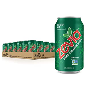 Zevia Zero Calorie Soda, Ginger Ale, 12 Ounce Cans (Pack of 24)