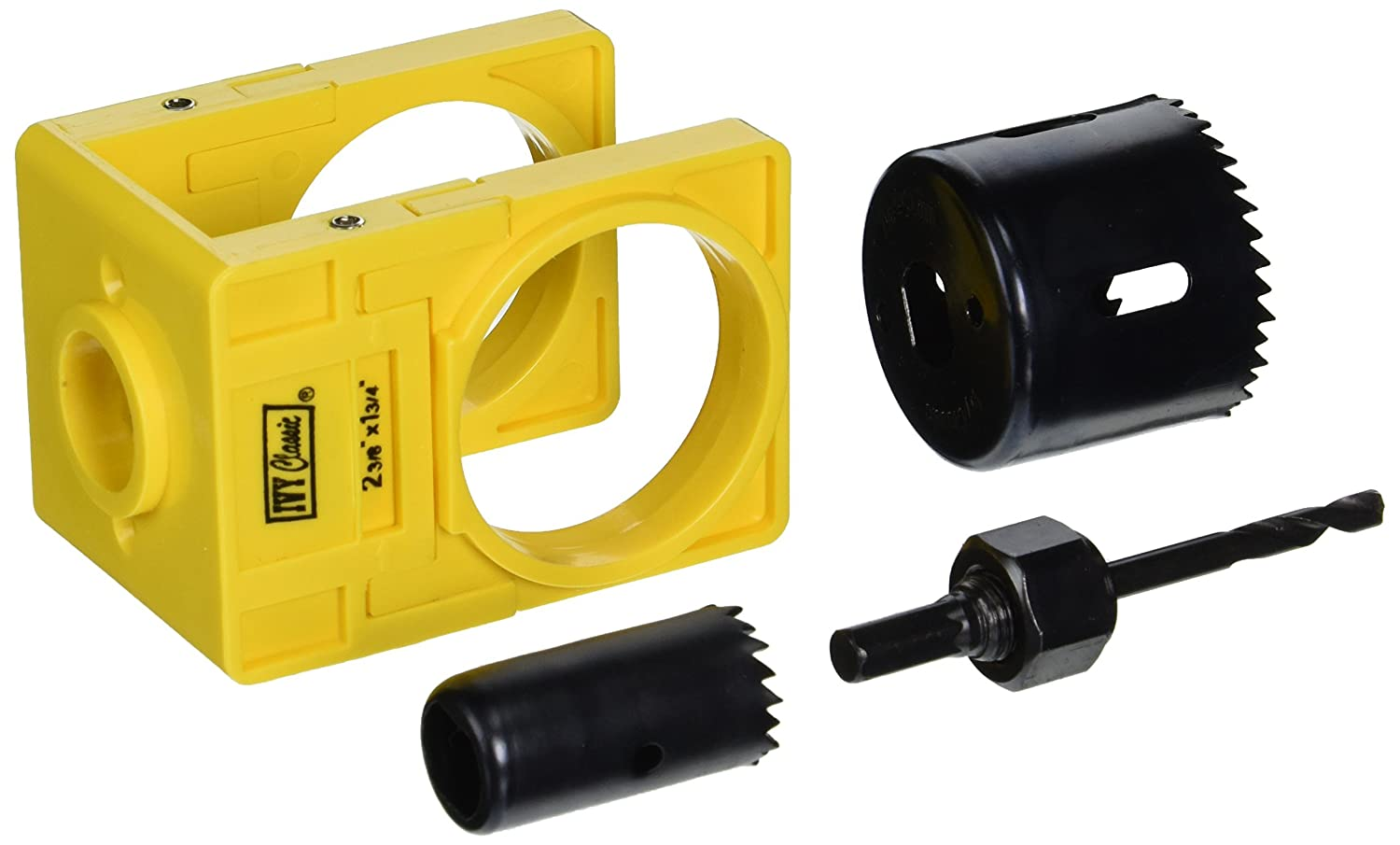 IVY Classic 27003 Carbon-Steel Lock Installation Kit with Guide Template for Wood Doors, Carded