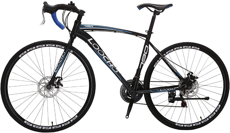 LOOCHO 21 Speed Road Bikes With Dual Disk Brake