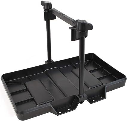Hold Down Clamp Bracket Kit Black Auto Car Adjustable Storage Battery Tray