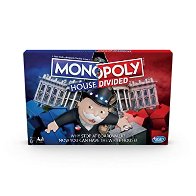Monopoly House Divided Board Game: Elections and White House Themed Game; Board Game for Families and Kids Ages 8 and Up: Toys & Games