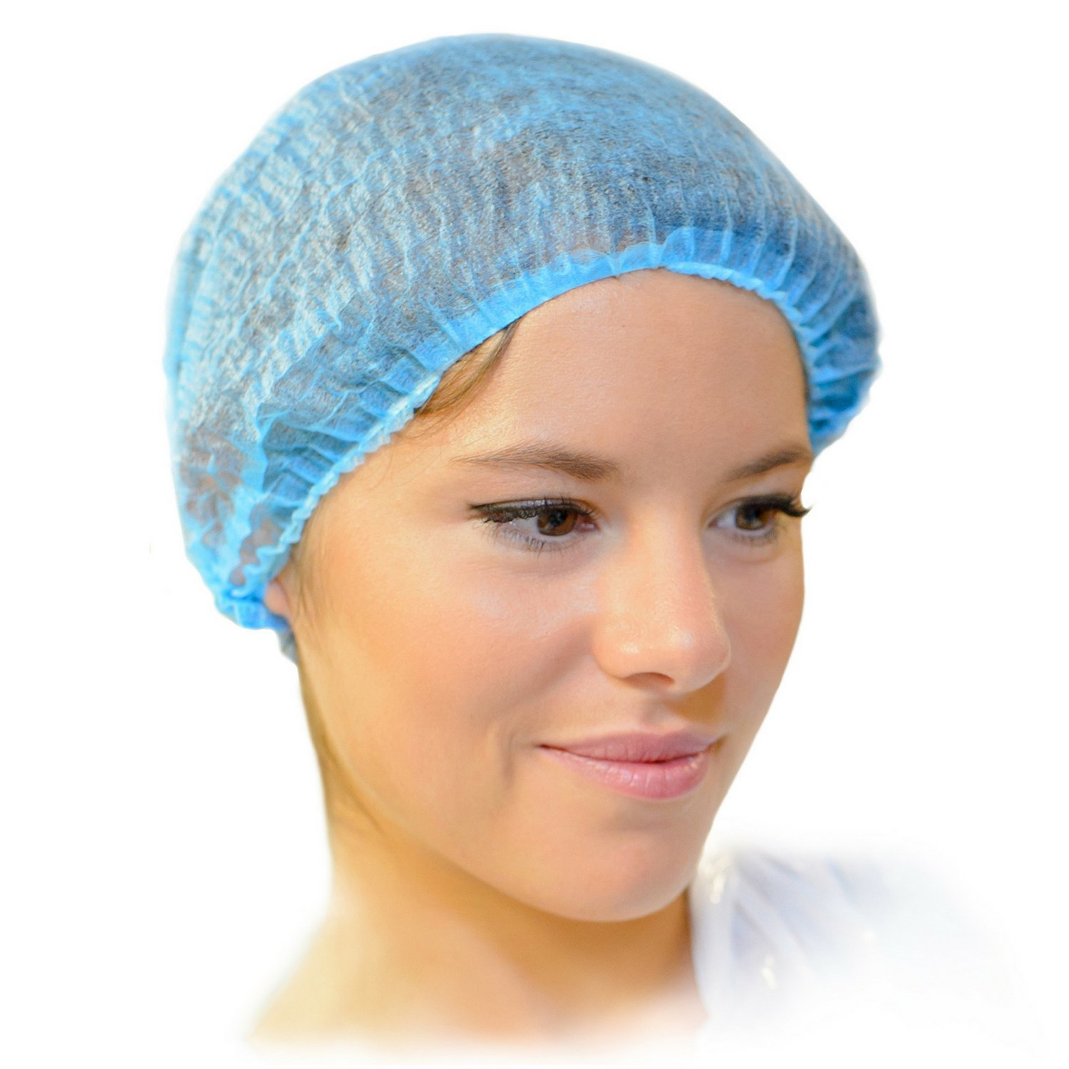 MIFFLIN Hairnets (Blue, 200 Pack) for Hair Cover, Disposable Polypropylene Bouffant Bulk Hairnet Caps for Food Service, Hair Nets for Non Medical Use by MIFFLIN (Image #8)