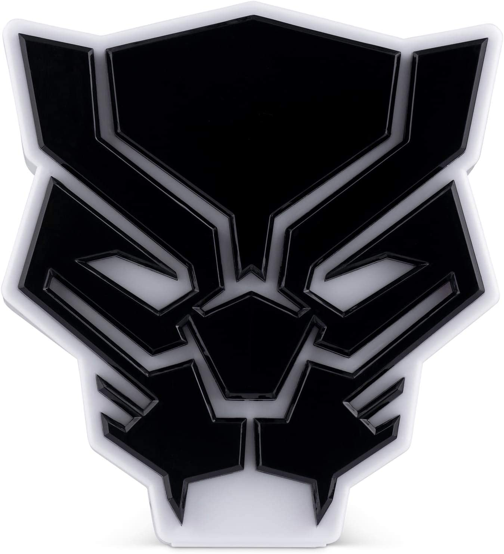 Marvel Avengers Night Light - Black Panther Table Lamp - Marvel Superhero Lamp – Marvel Decor Black Panther Mask Desk Light