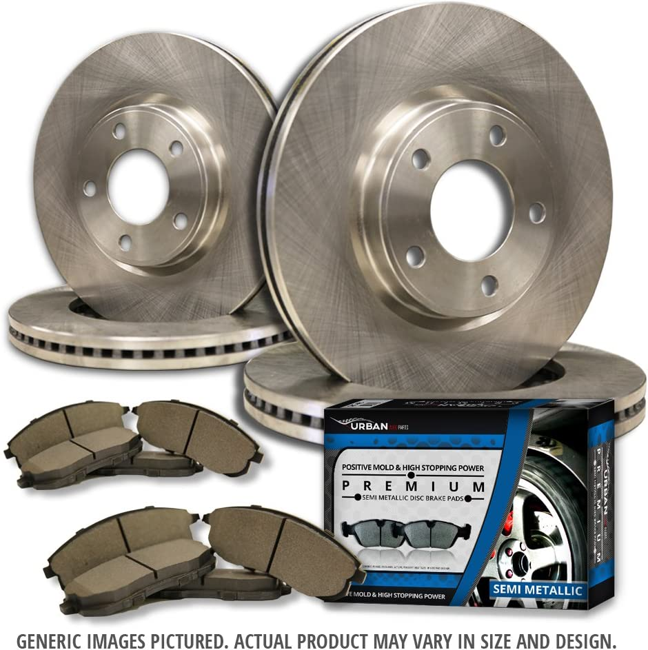 4 OEM Replacement Extra-Life Heavy Duty Brake Rotors 5lug Ford Mercury -Combo Brake Kit- SHIPS FROM USA!!-Tax Incl. F+R Full Kit 8 Semi-Met Pads