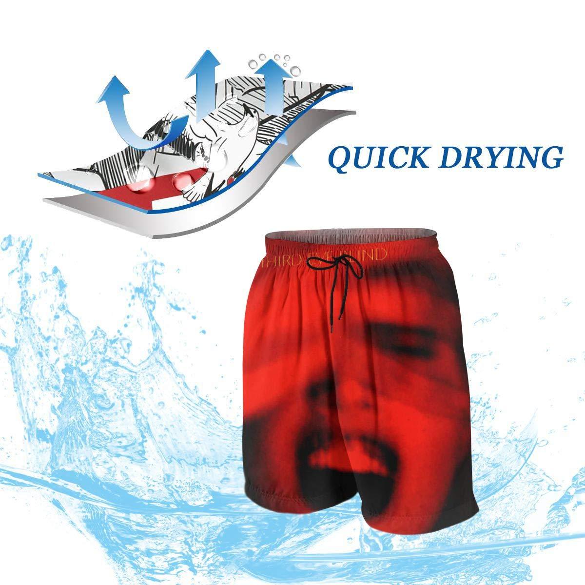 Third Eye Blind Summer Adolescent Mans Leisure Quick Dry Surfing Beach Shorts Elastic Band Pocket Drawstring