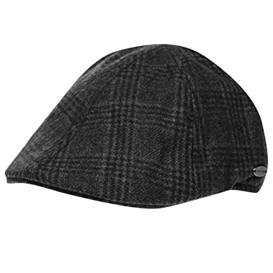 Firetrap Mens Mesa Gatsby Cap Covered Peak Polyester Wool Mens Check ... 7f57c2f070b0