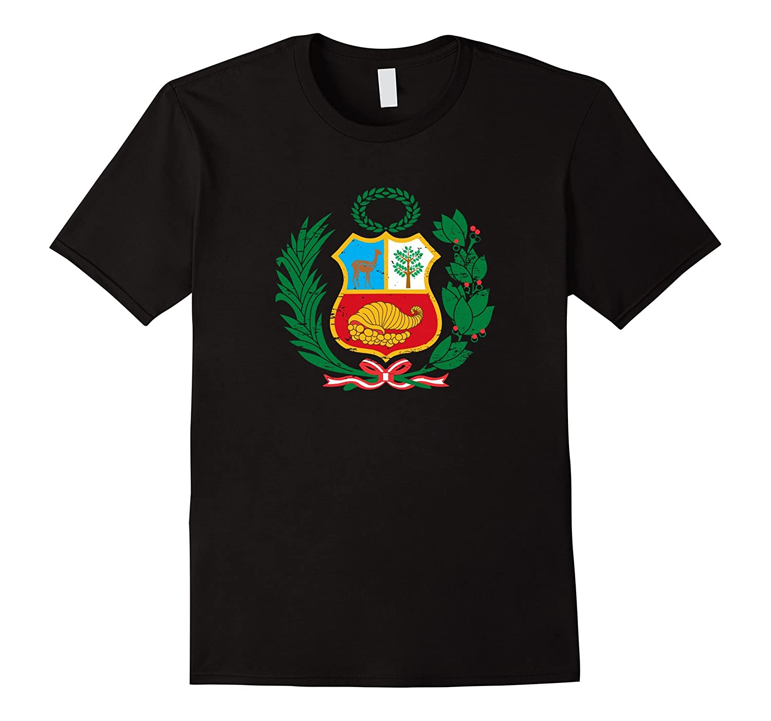 Peru T-Shirt Peruvian Coat of Arms Escudo Men Women Kids-TJ
