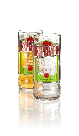Juego de 2 vasos reciclados a partir de botellas de cerveza ...