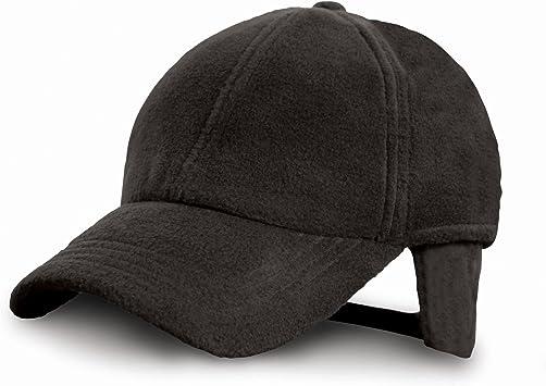 Gorra polar con orejeras POLARTHERM™ - Ideal para Invierno, Montaña, Nieve, Trabajo, Industria, Pescar, Deportes - Hombre/Mujer (Unisex) (Negro): Amazon.es: Deportes y aire libre