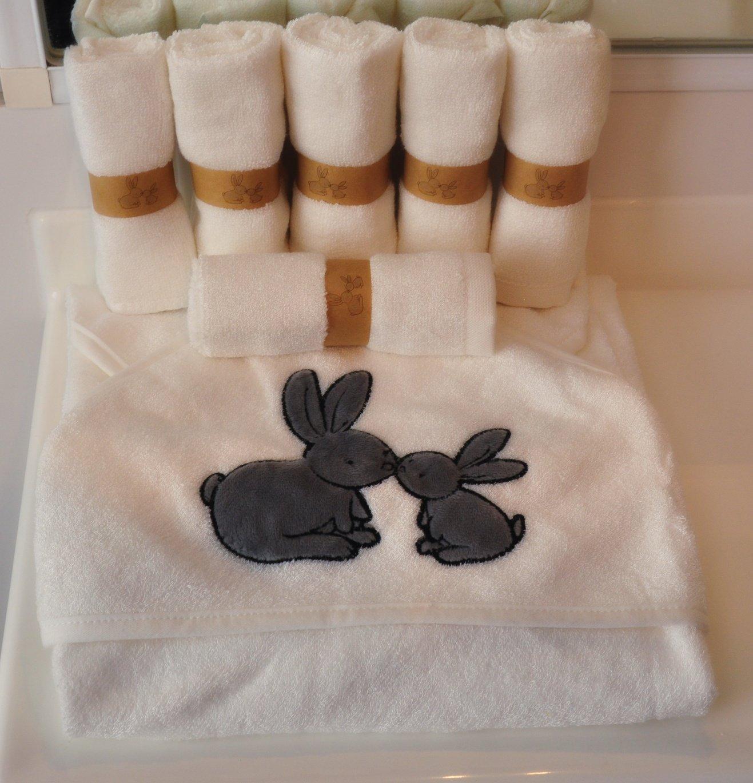 Organic Bamboo Baby asciugamano con cappuccio e salvietta set da coniglietto organics-7/pack-extra morbido per sensibile skin-baby doccia gift-great per neonati o toddlers-perfect per bagno spiaggia o piscina