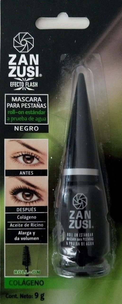ZAN ZUSI Waterproof Black Roll On Mascara 9g Glass Bottle From Mexico
