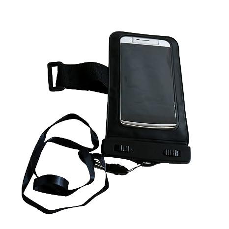Funda Impermeable Móvil, GeekMe Funda Impermeable IPX8 para Móvil Universal de 4-6 Pulgada Funda Impermeable iPhone 7/6s Plus, 5s, SE Samsung 7/S7 ...