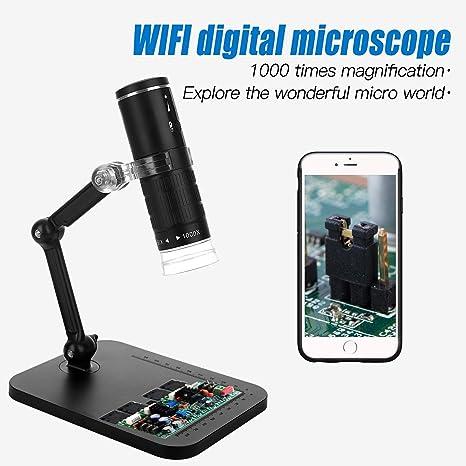 Jiusion 1000x Ampliación WiFi Cámara de microscopio de Mano ...
