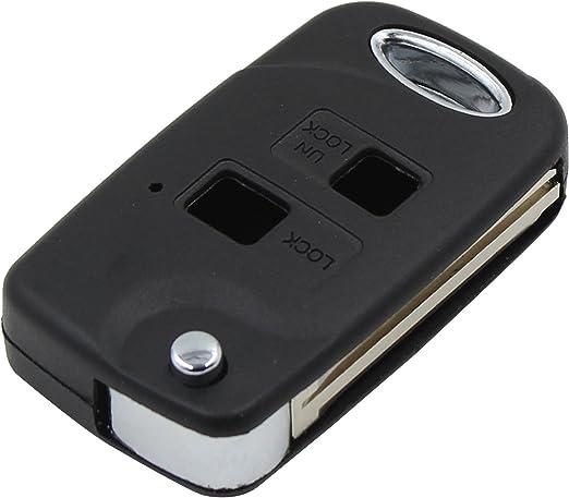 Imagen deRemote Key Case Fob para Yaris Corolla Carina Avensis Conversión del tirón remoto llavero de control remoto de 2 botones