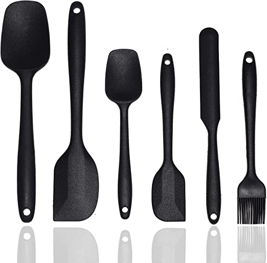 4 pc STAINLESS STEEL SPATULA SET WITH 6 DIFFERENT TOOLS