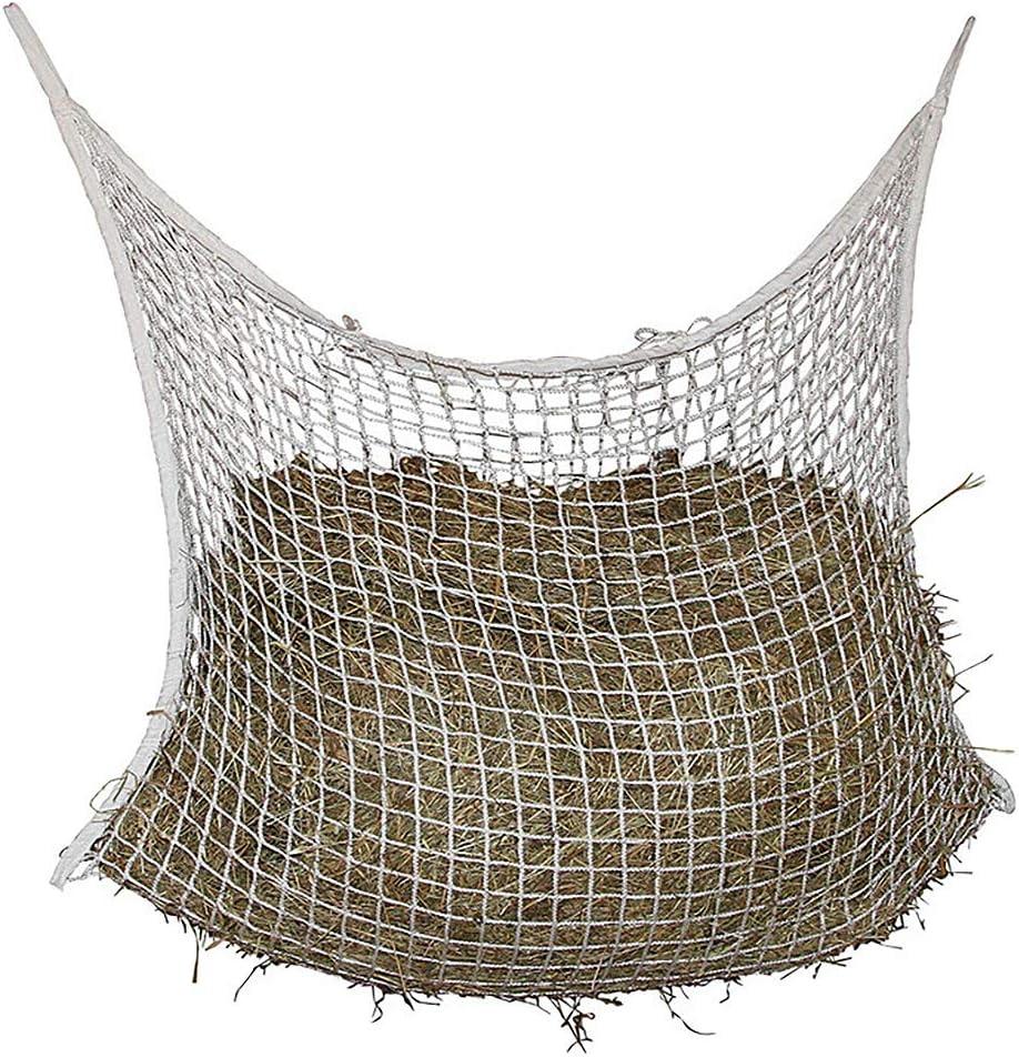 DEDC Red de Heno de Alimentación Lenta para Caballos Bolsa de Hierba de Caballo de Rejilla Tejida Alimentador Lento de Caballos Red de Malla (120x90cm)