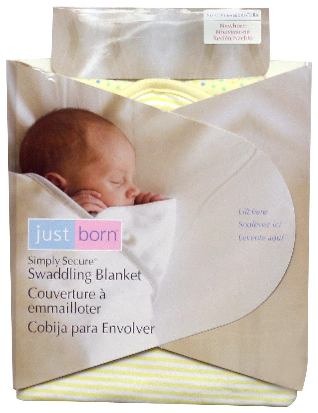 Just Born Simply Secure Swaddling Blanket - Yellow