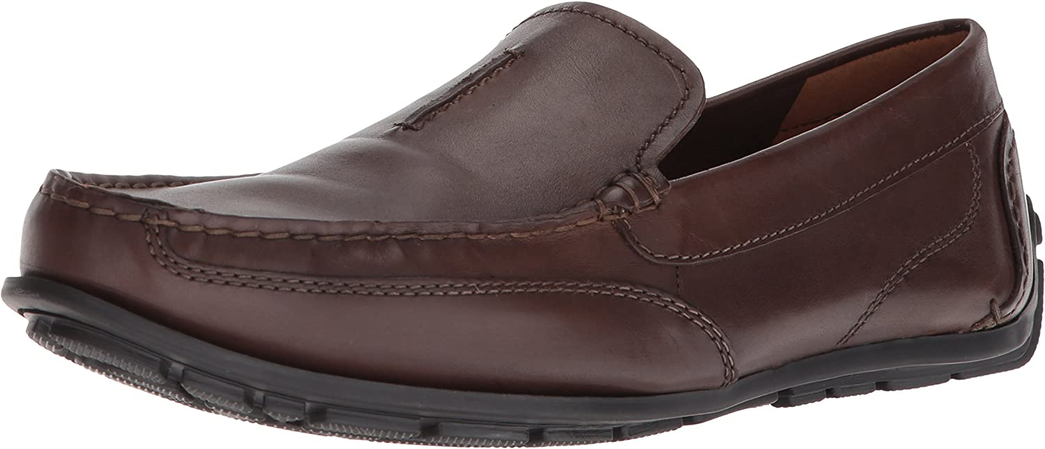 Clarks Benero Race Mens Brown Leather Casual Dress Slip On Loafers Shoes