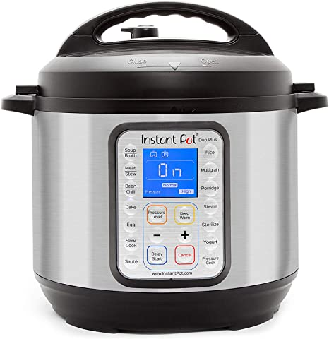Amazon Com Instant Pot Duo Plus 9 In 1 Electric Pressure Cooker Sterilizer Slow Cooker Rice Cooker Steamer Saute Yogurt Maker And Warmer 6 Quart 15 One Touch Programs Kitchen Dining