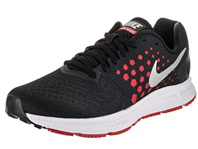 4d8b8903637b0 Nike New Men s Zoom Span Running Shoe Black University Red 7.5
