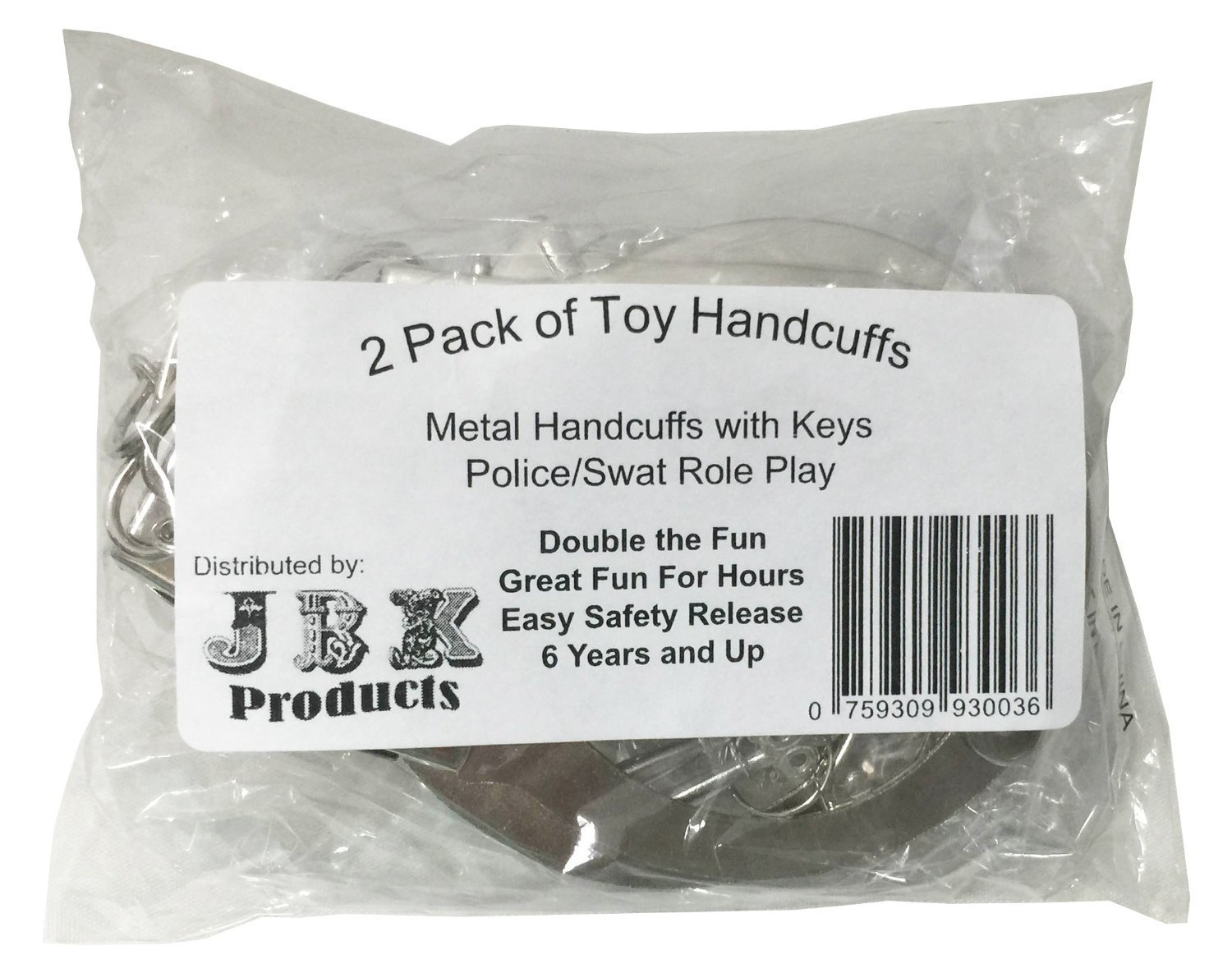amazon com 2 pack police metal handcuffs with keys swat role