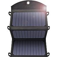 Cargador Solar De 19W Panel Solar Portátil, Plegable Resistente A La Lluvia Cargador Para Exteriores,Con 2 Puertos USB…