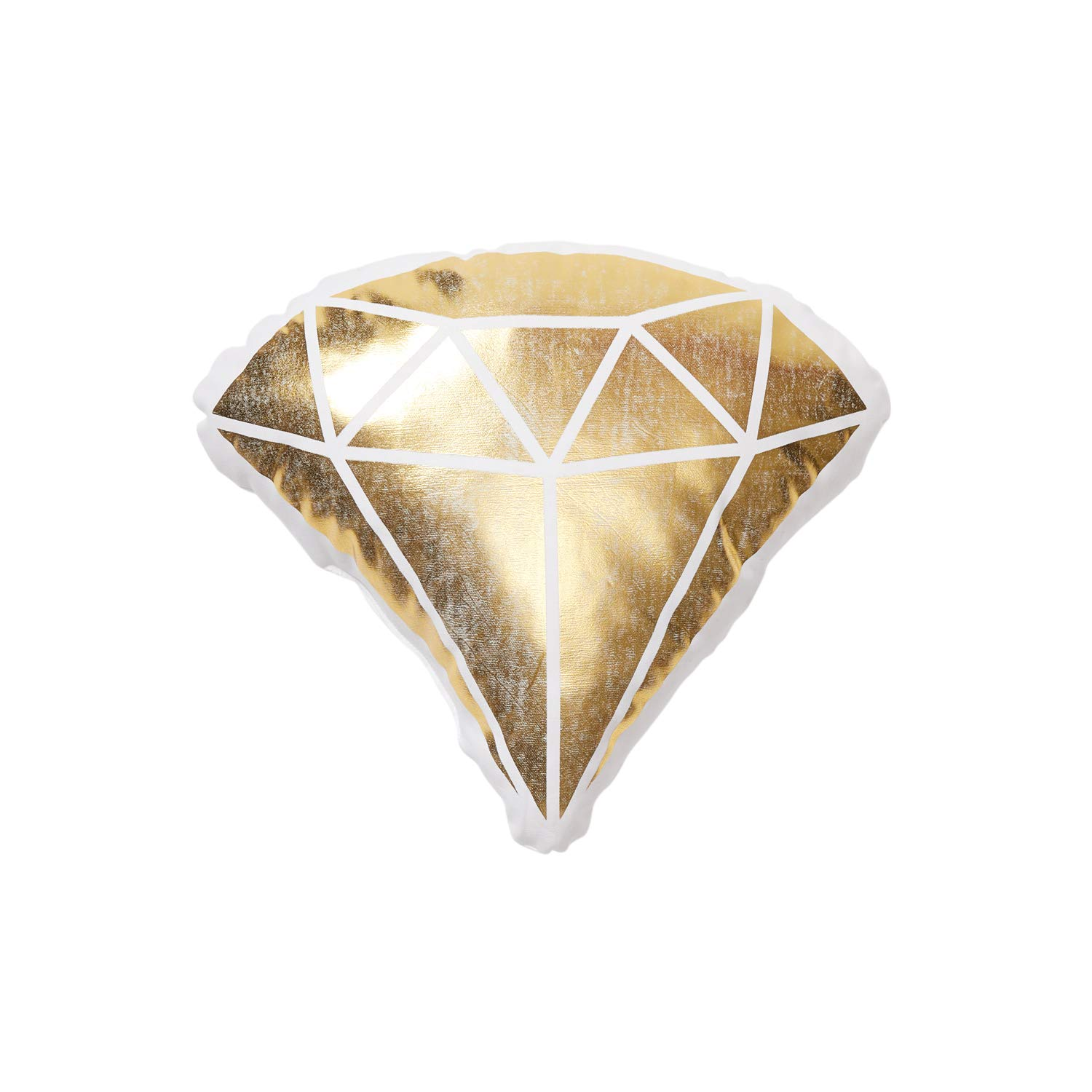 Buy Dormify Diamond Cut Accent Pillow Glam Dorm Room Decor Gold 15 In X 13 In Online At Low Prices In India Amazon In