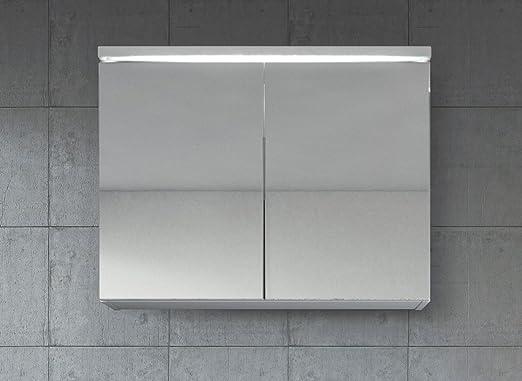 Spiegelschrank Paso 80 cm Weiß - Schrank Spiegelschrank Spiegel ...