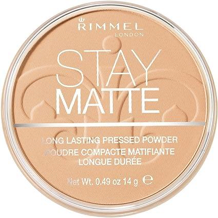 RIMMEL LONDON Stay Matte Long Lasting Pressed Powder - Nude Beige by Rimmel: Amazon.es: Belleza
