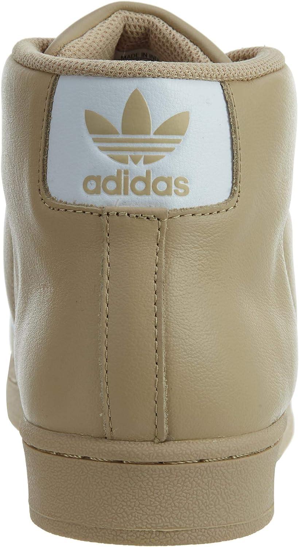adidas PRO Model Mens Khaki White Metallic Gold