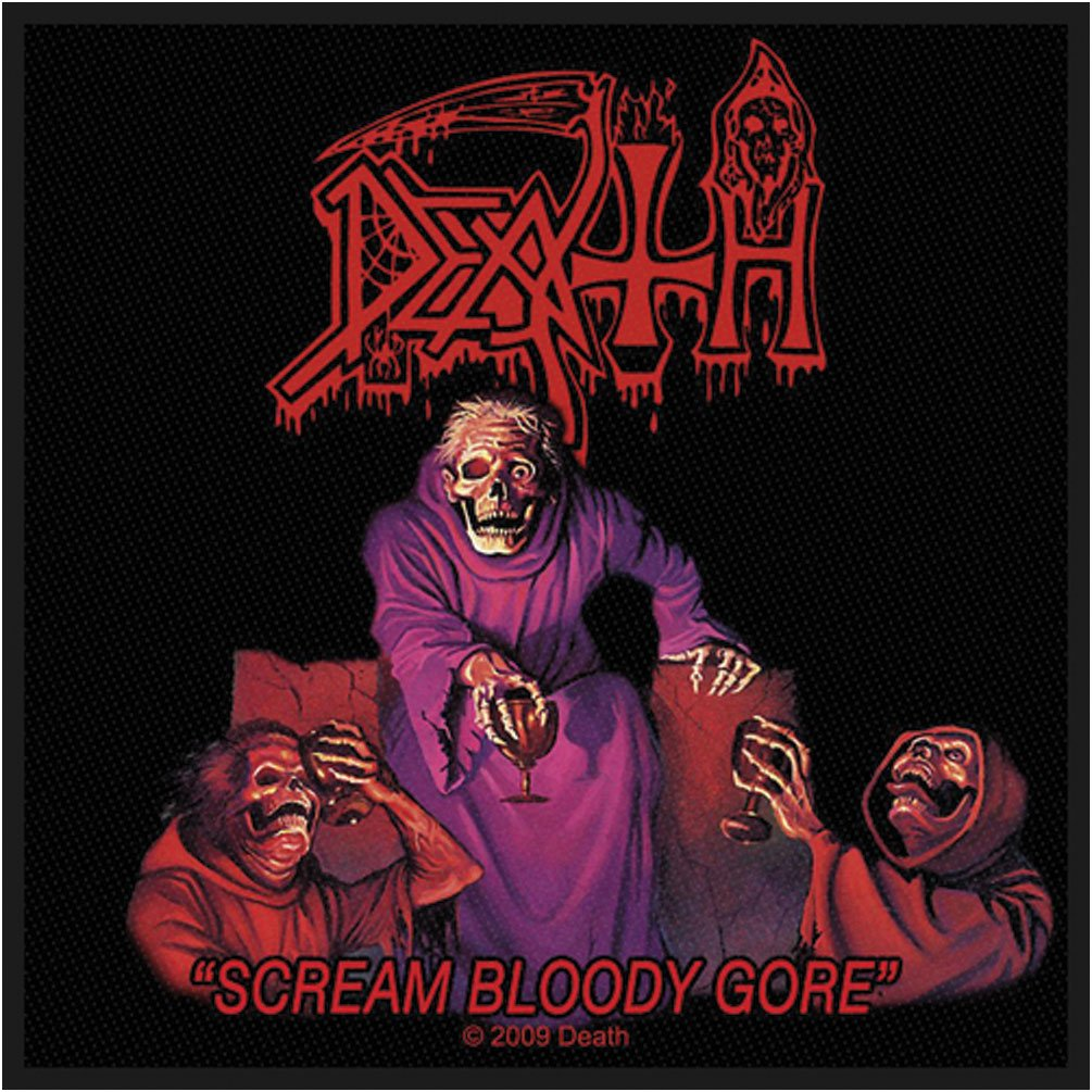 Death Scream Bloody Gore Patch Album Art Metal Band Music Woven Sew On Applique RAZAMATAZ