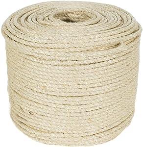 Golberg Twisted Sisal Rope (3/8 Inch x 10 Feet)