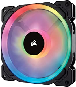 Corsair LL Series LL140 RGB 140mm Dual Light Loop RGB LED PWM Fan, No Controller-Single Pack