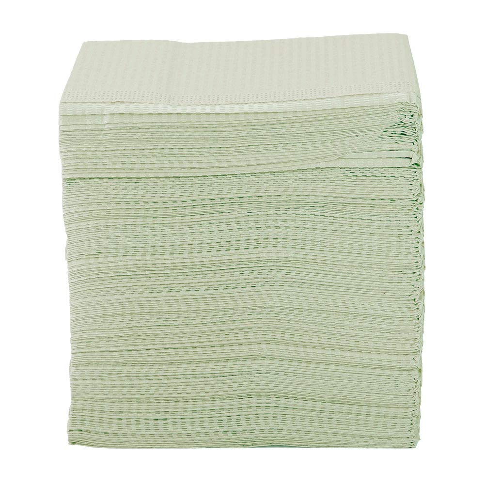 Yosooo Dental Towel, Disposable Dental Patient Towel Bibs Tissue - 2 Plies - Pack of 500pcs(Green) by Yosooo