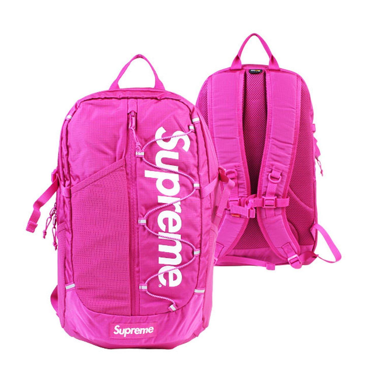シュプリーム リュック バックパック 20L ユニセックス (並行輸入品) B06WWRRYLN ピンク