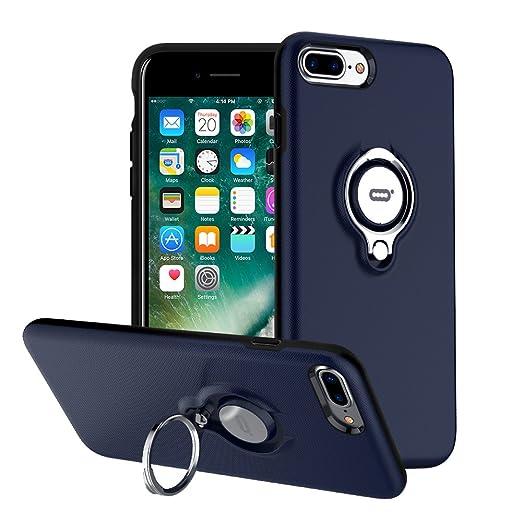 6 opinioni per Custodia per iPhone 7 Plus con Anello da Kickstand da ICONFLANG, Custodia